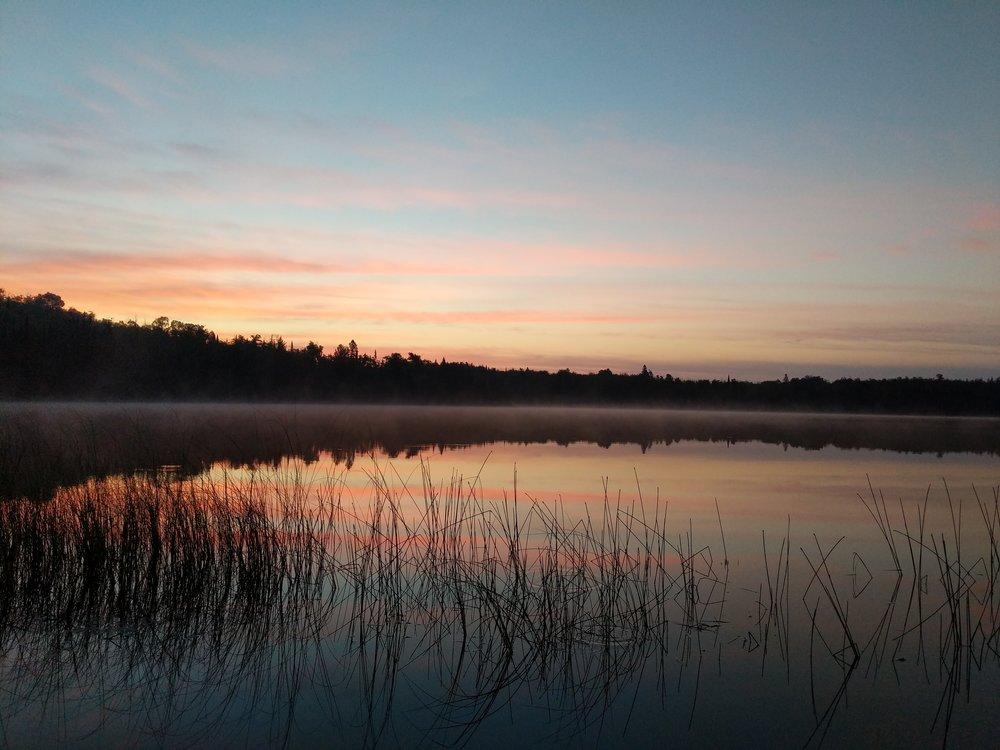 Sunrise on the Superior Hiking Trail