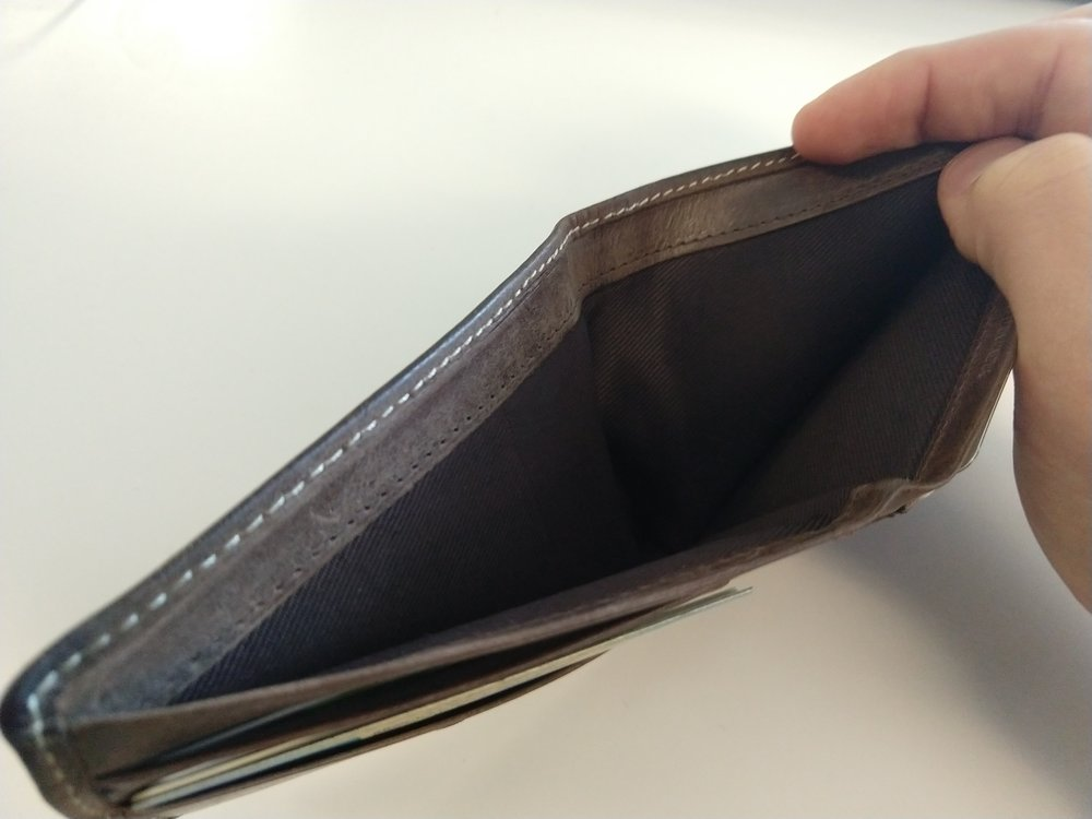My wallet. Not pictured: money.