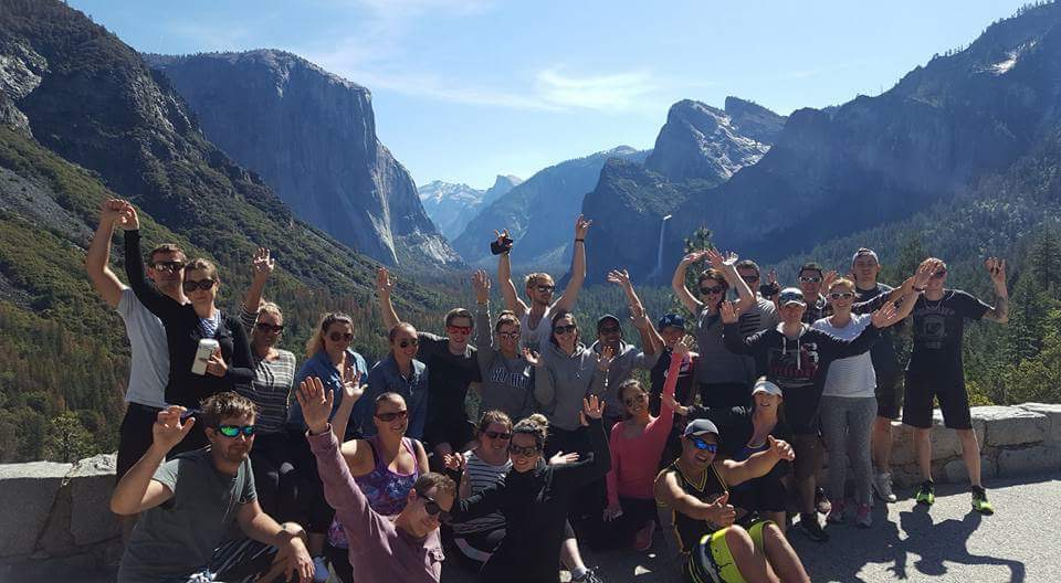The group in Zion National Park.