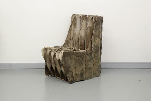 Relics Concrete Chair by Jakub Szczesny