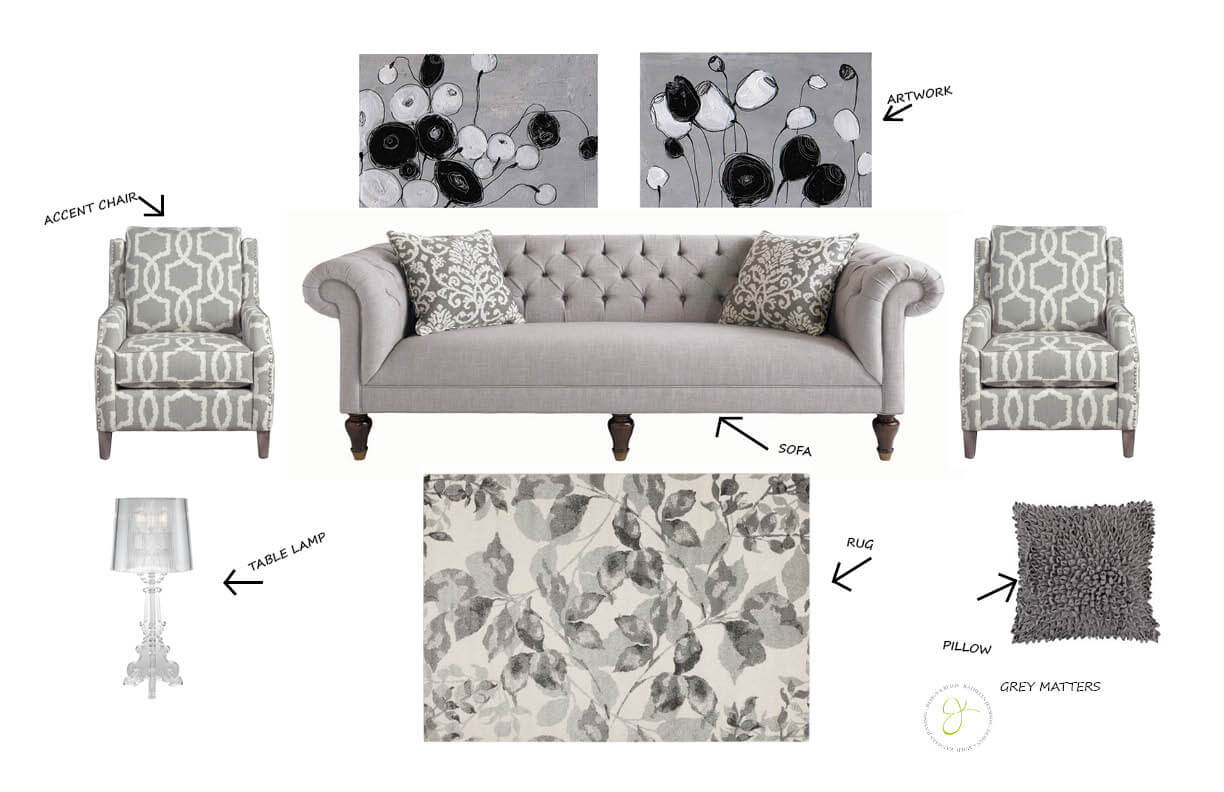 Grey Room Vignette