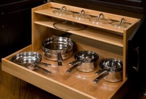 Base Pan and Lid Storage