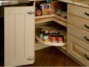 lazy susan canned food storage