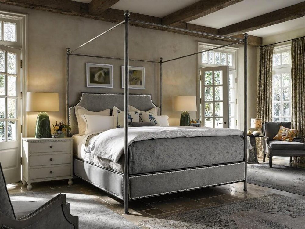 4-Beautiful-Bed-Styles-for-an-Easy-Room Makeover-four-poster-bed-universal-furniture-kathleen-jennison-interior-designer