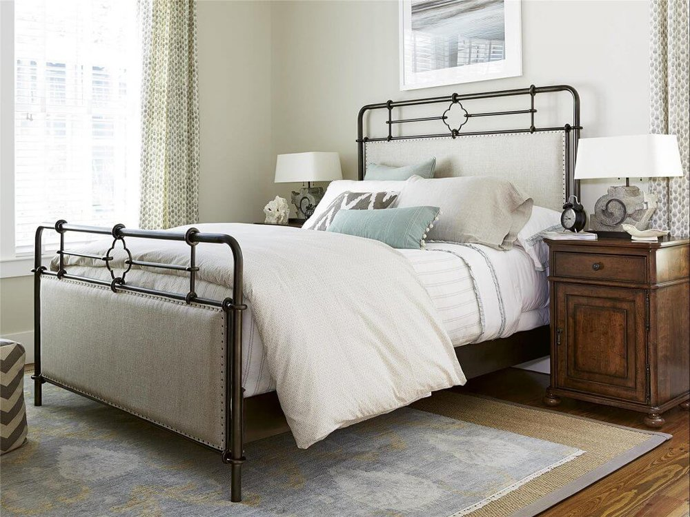 4-Beautiful-Bed-Styles-for-an-Easy-Room Makeover-metal-upholstered-bed-universal-furniture-kathleen-jennison-interior-designer