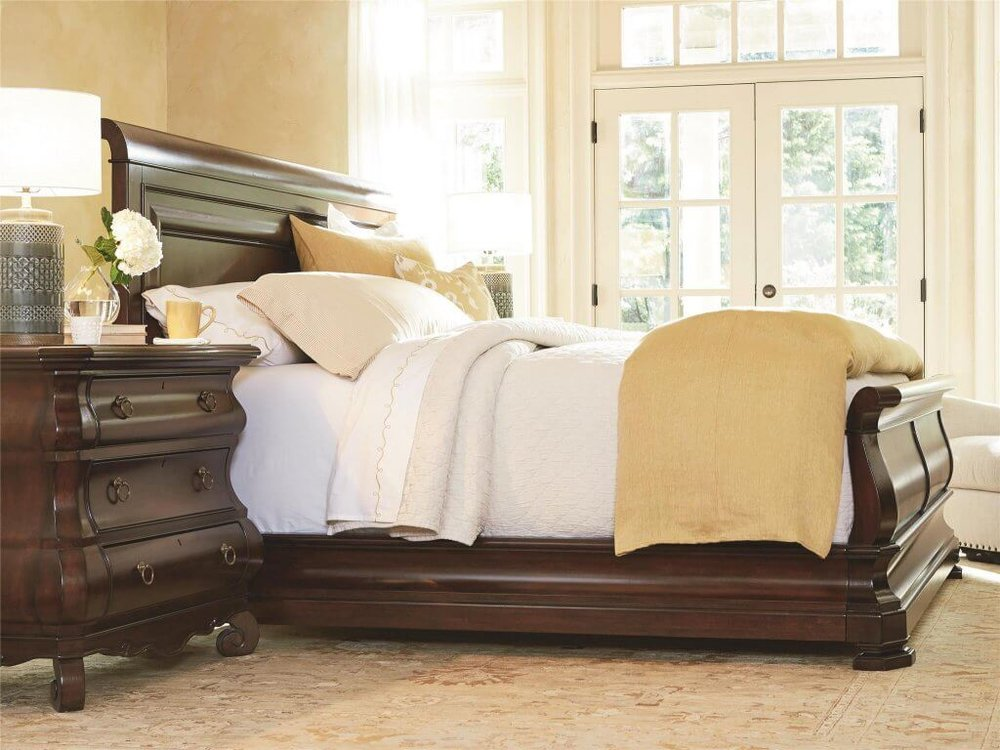 4-Beautiful-Bed-Styles-for-an-Easy-Room Makeover-sleigh-bed-universal-furniture-kathleen-jennison-interior-designer