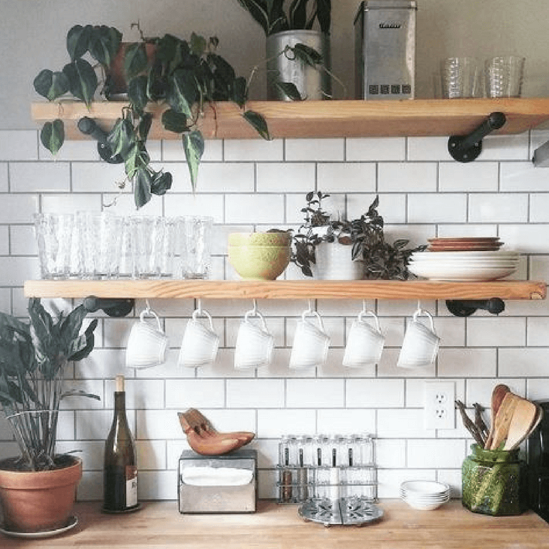 How To Make Open Kitchen Shelving Look Amazing Ktj Design Co