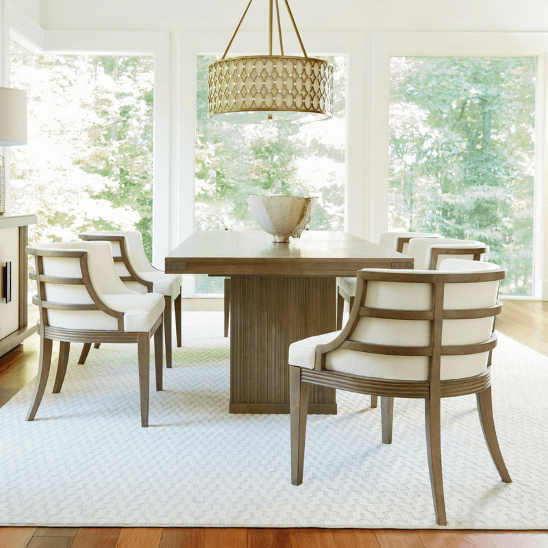 A modern dining room table is elegant in all its mid-century classic design. Generally a lighter wood, it can be made of plastic or metal