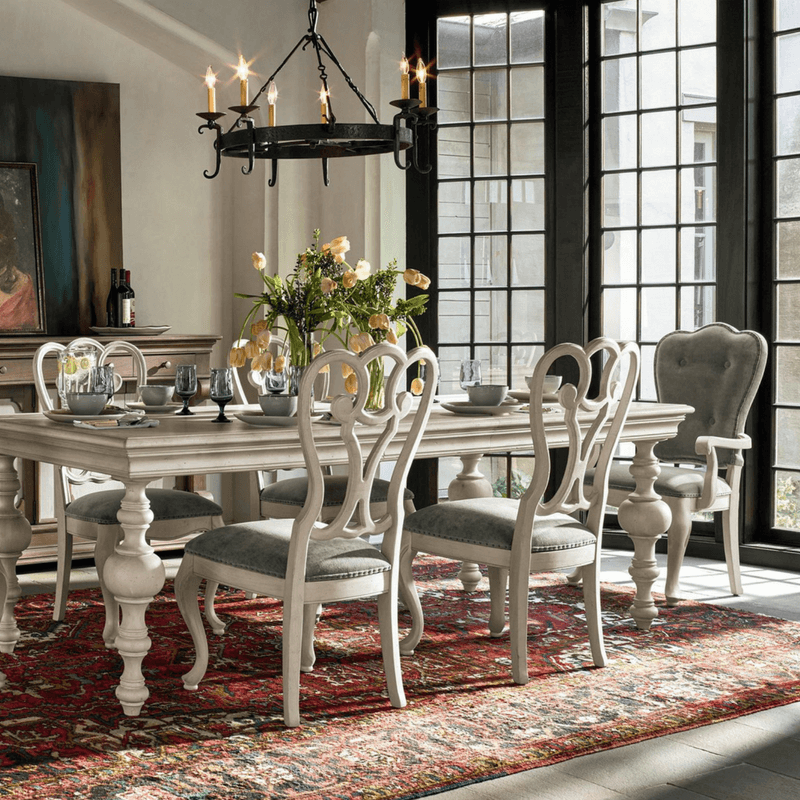 A tradition dining room table is refined. It feels prim and proper. Heck, the butler might pop in at any time -his name might be Carson IDK