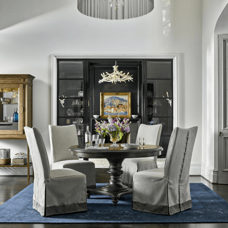 As for the shape, round tables are great for conversation but require a larger space and won't seat very many people. If you have a bigger family, a rectangular table with multiple leaves is