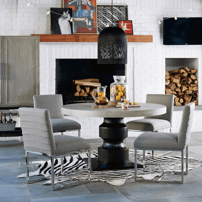 You can pick all sorts of seating for your dining room. You can have all the chairs match, or you can mix and match the chairs - just make sure something ties them together