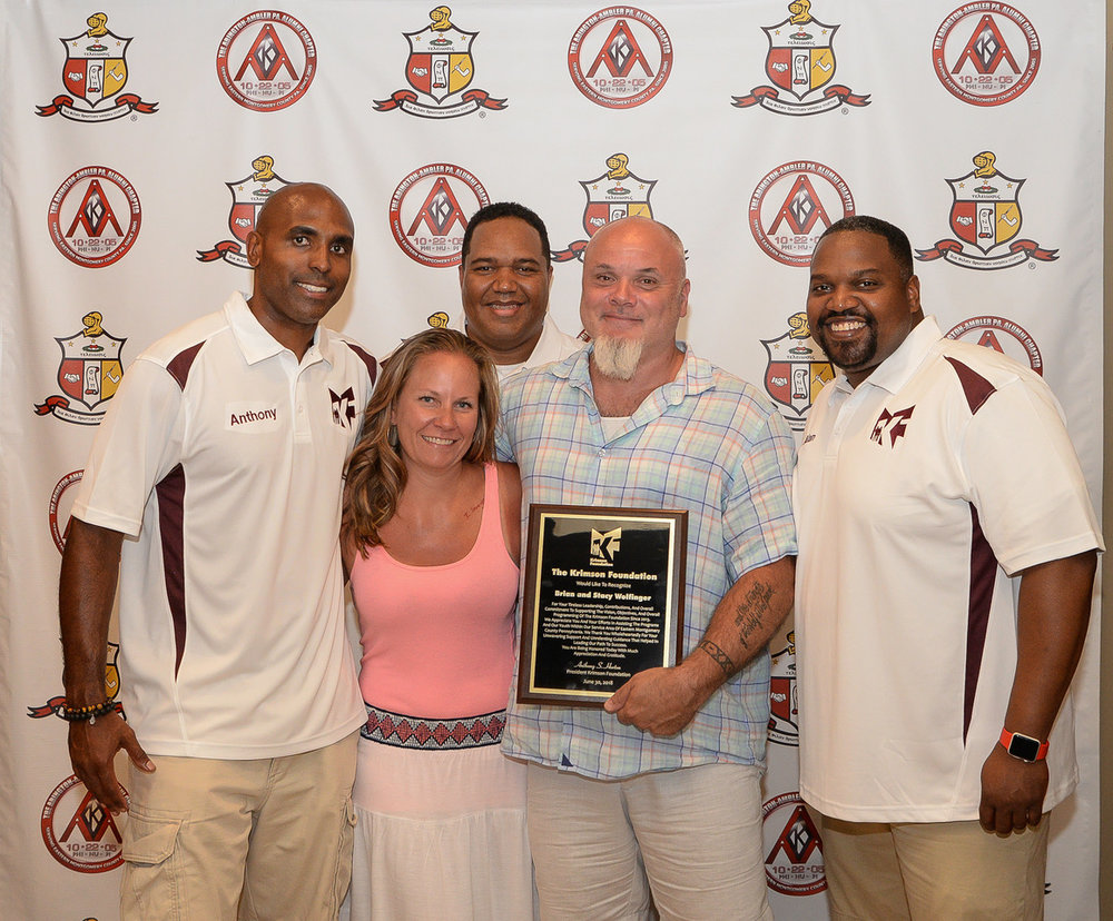 KF Core with Donor Award receipient Brian and Stacy Wolfinger.jpg