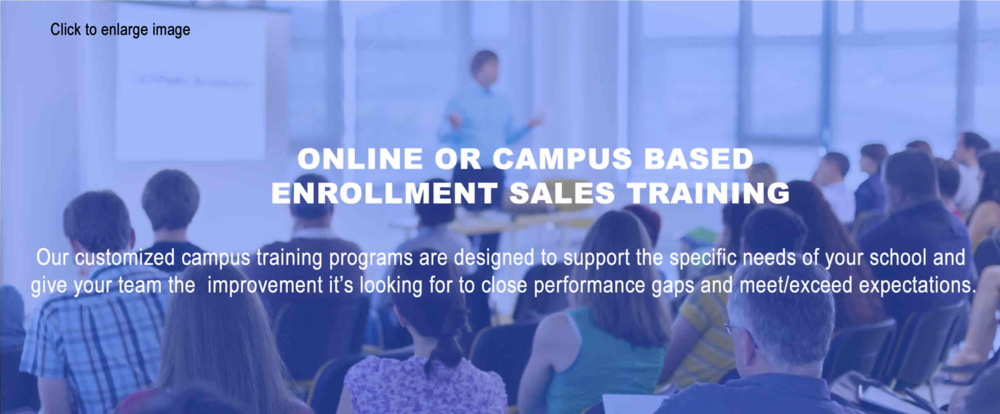 Online or Campus Enrollment Training.