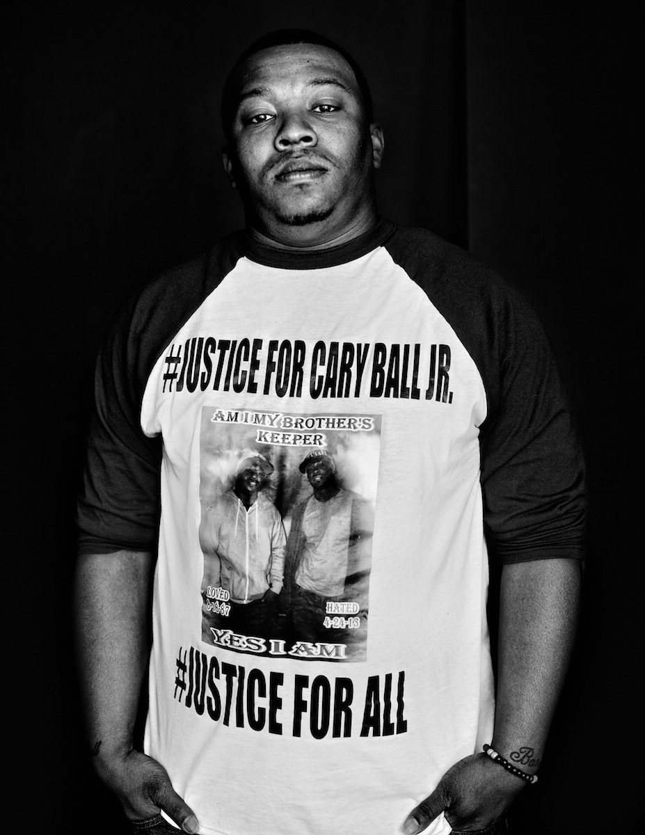 """Never Forgive. Never Forget. Every bullet will be answered. Justice for Cary Ball Jr. Justice For All."" -Carlos Ball  This is Carlos Ball. His little brother #CaryBallJr was killed by police 2 yrs ago today. And he is the movement.   2 years ago today honor student Cary Ball Jr. was killed by police. Never forget. #JusticeForCaryBallJr"
