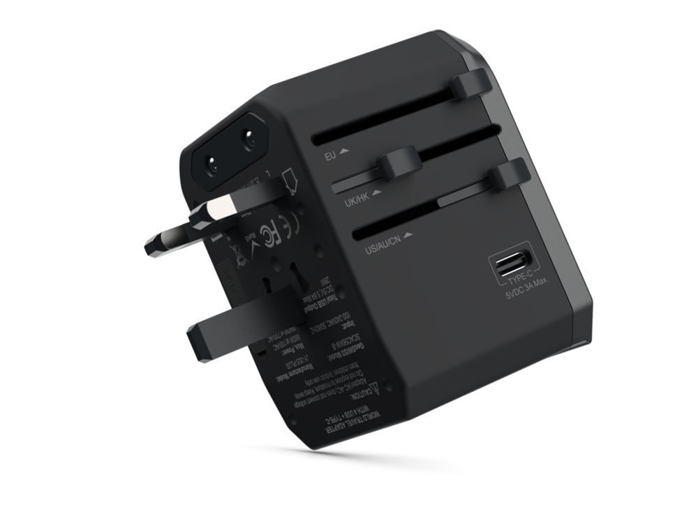 Universal Travel Adapter Quad Port USB-A + USB-C