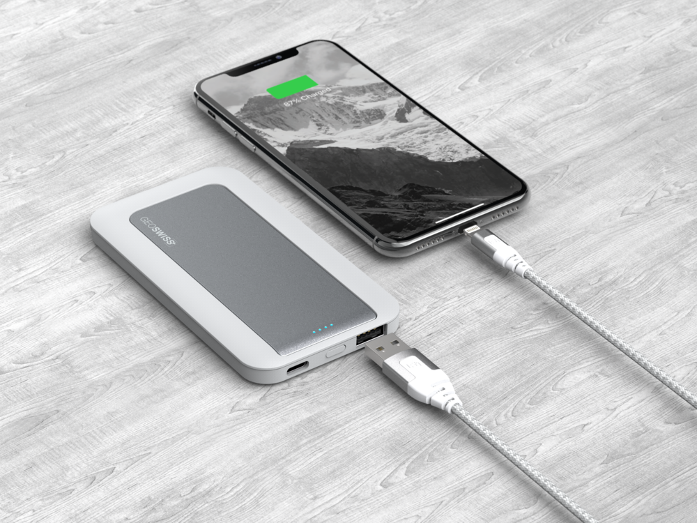 5000mAh Universal Power Pack, Silver
