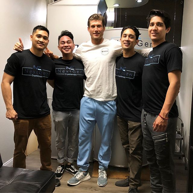 Sending positive vibes for @mikelemaire for his upcoming fight in Glory Kickboxing. He will be fighting in his hometown of 🇫🇷 France! Mike came to High Power Massage and Next Gen Cryo to get a full body recovery treatment of stretching, cryotherapy, massage, air compression, cryo t-shock, & hypervolt vibration massage. Check him out March 6 on UFC Fight Pass! OH BTW..... WE SPONSOR FIGHTERS AND ATHLETES TOO!  Check out his fight shorts! ⚡️🔥 💥 💯