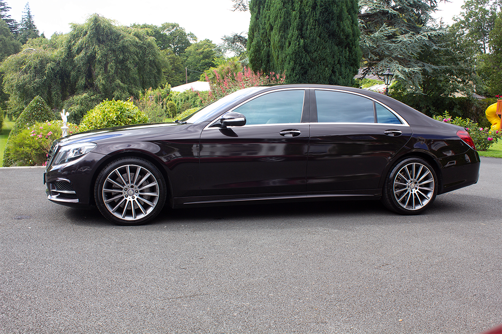 Mercedes S-Class 500 for hire in Dublin