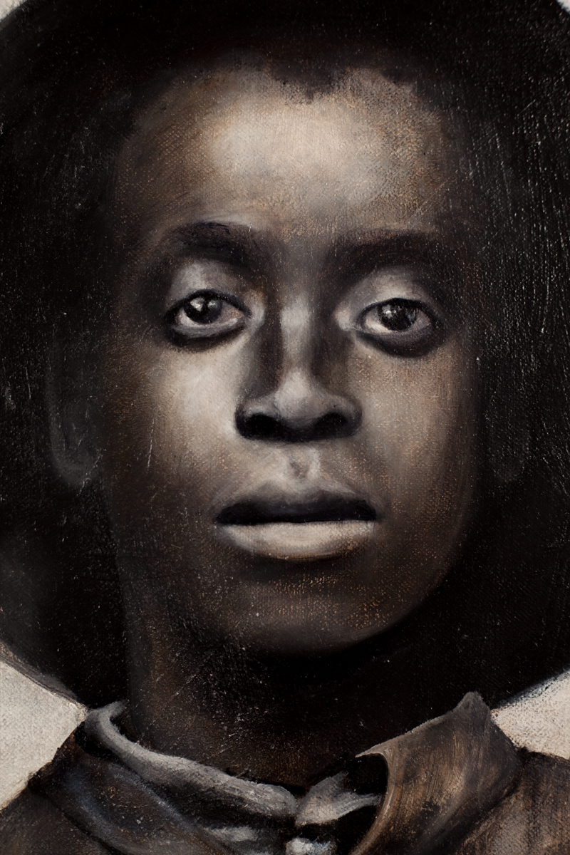 """""""[Two African American boys, full-length portrait facing front]"""" (detail)"""