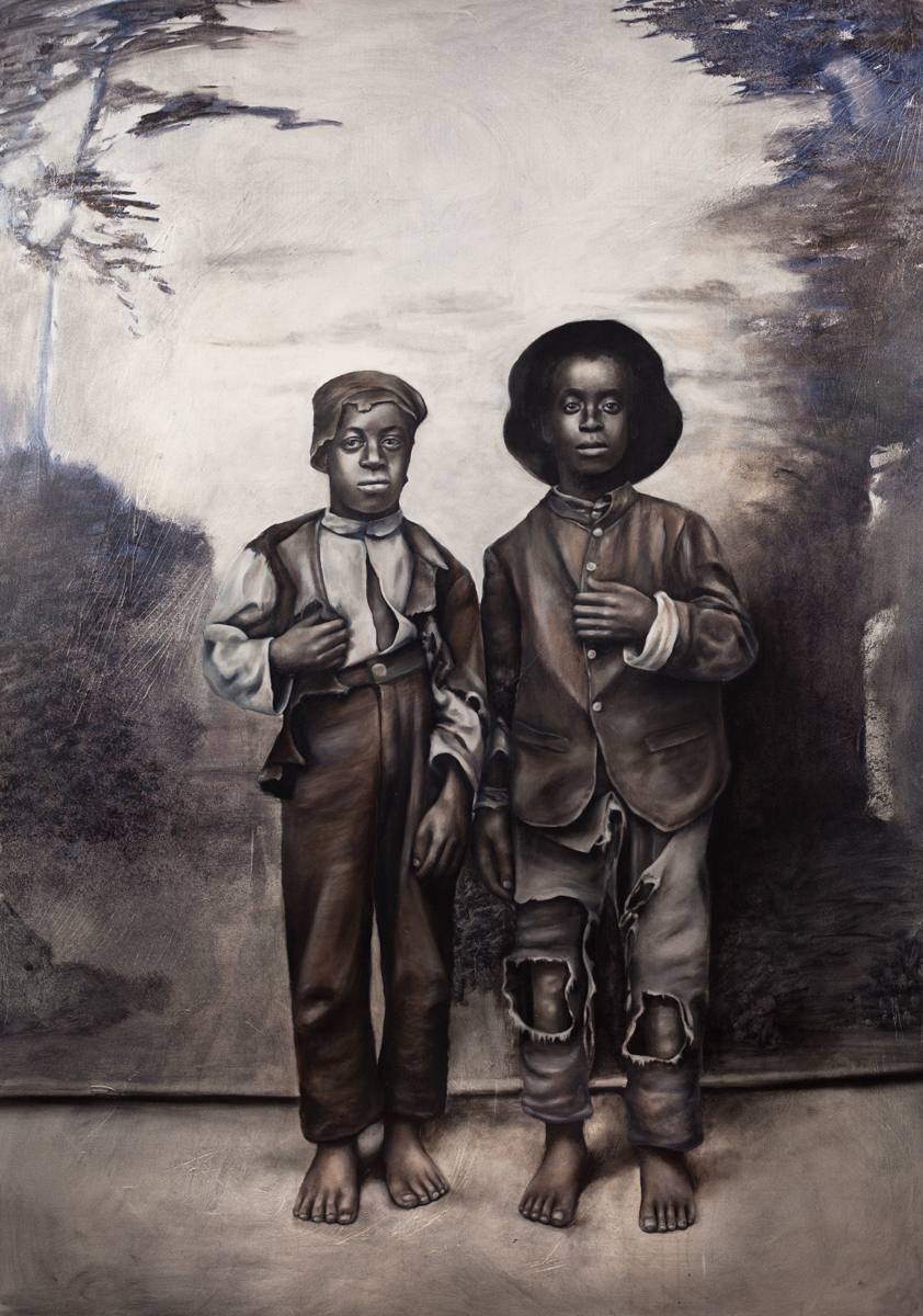 Two African American boys, full-length portrait facing front-Nikesha Breeze.jpg