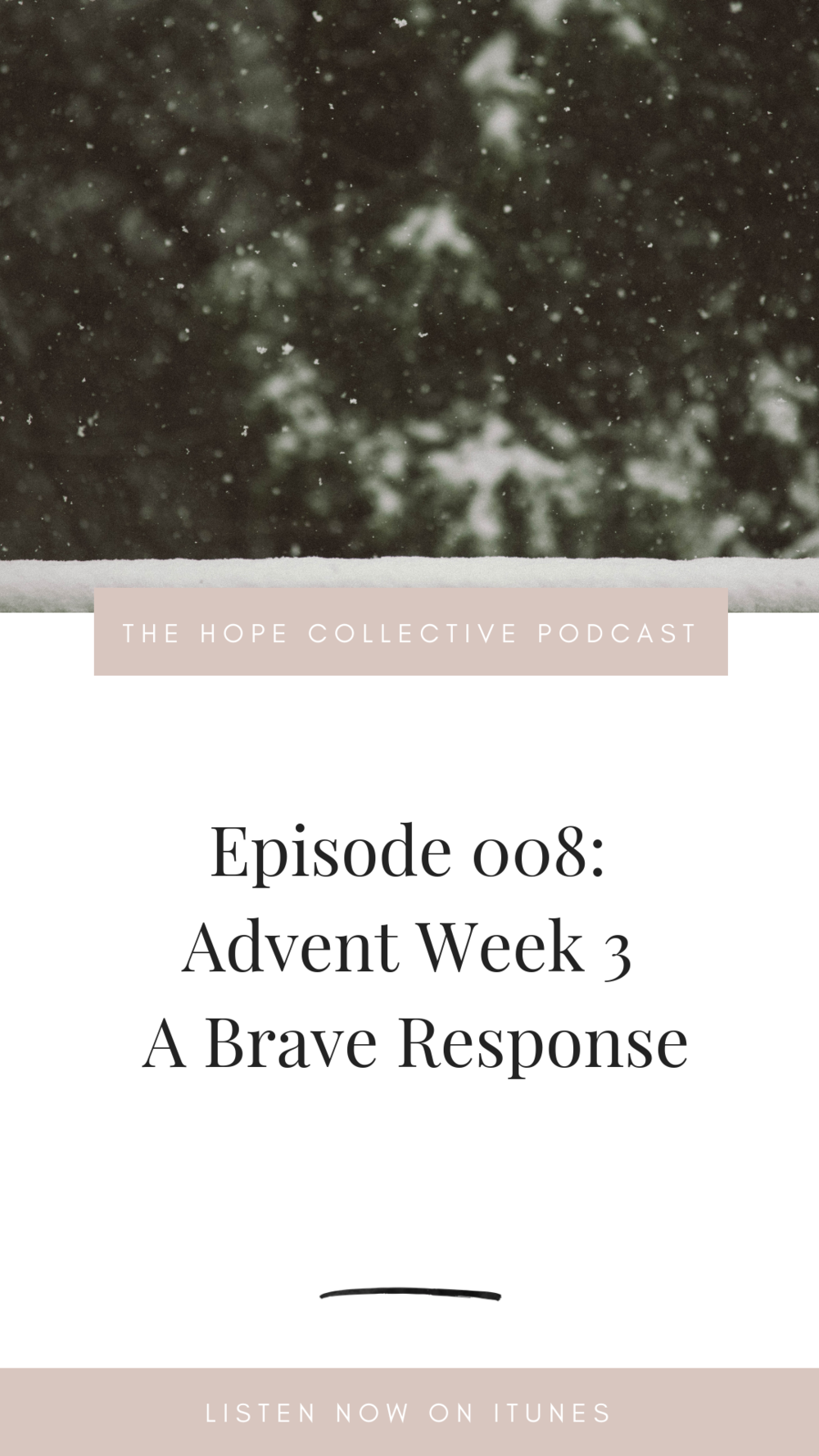 advent week 3 - a brave response - the hope collective podcast