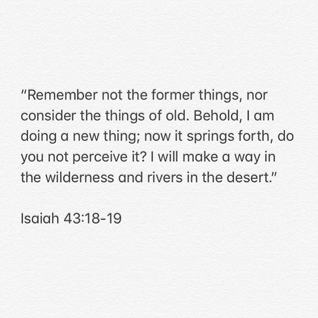 The Lord dropped this scripture in my heart a couple of weeks ago the perfect promise and the perfect timing. He is such a good Father to us! Friend, what part of your life do you need God to breathe into? Where are you asking, in faith, for Him to do a new thing? 🌊