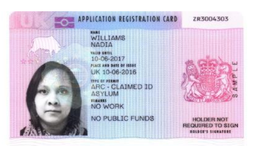 Application Registration Card (ARC)
