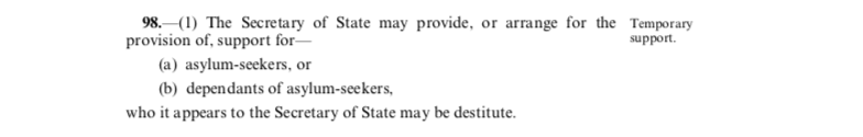 Extract from the Immigration and Asylum Act 1999