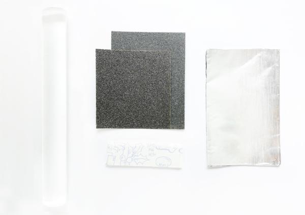 acrylic rod sandpaper blutack foil.jpg