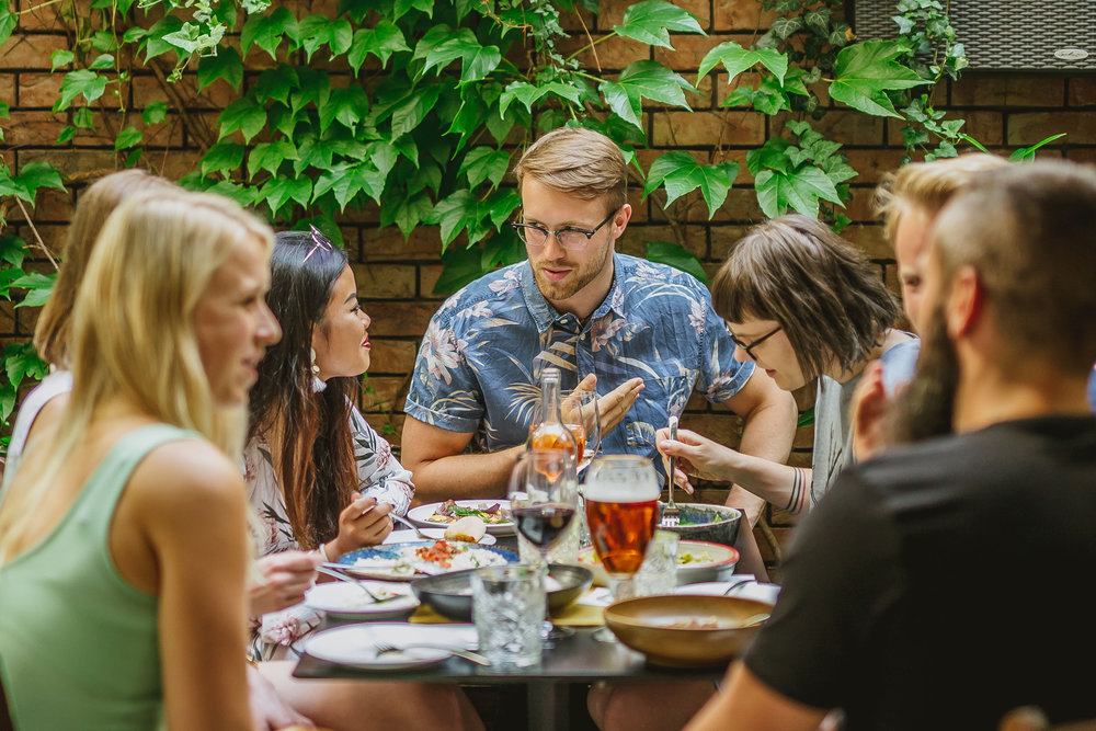 Together tastes better - Thought provoking dining concept pursuing the idea of sharing. Focused on creating and strengthening bonds among people. Taste, talk, experience, share, engage, live. Collectively. Together.