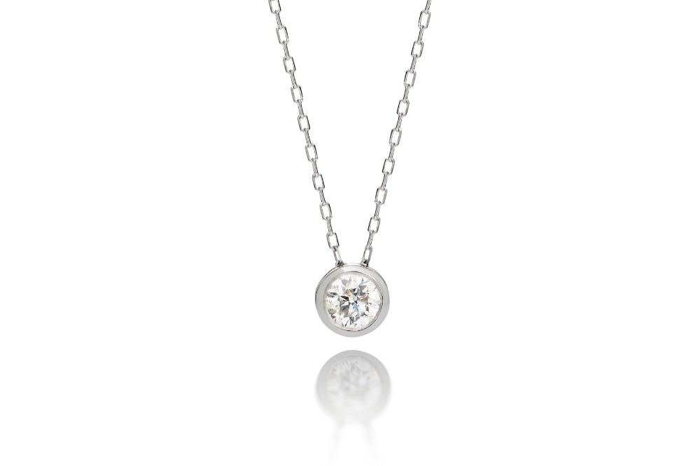This only gift with ice on it she wants is diamonds. Pendant available in various sizes.