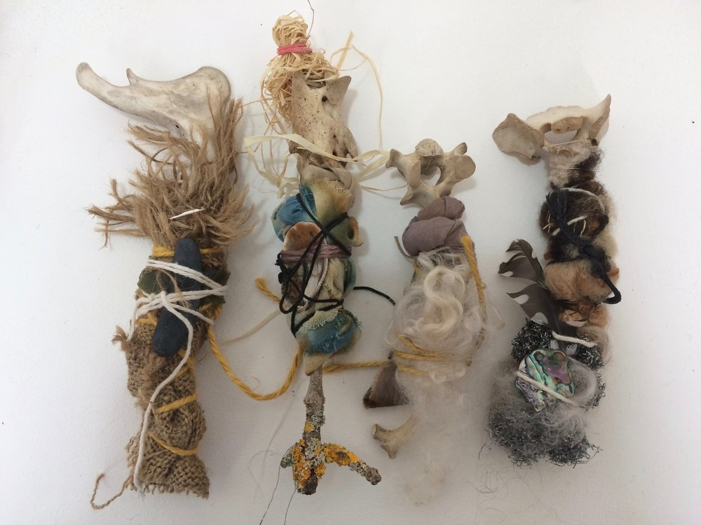 Bone Family,  2018 wall installation, dimensions variable