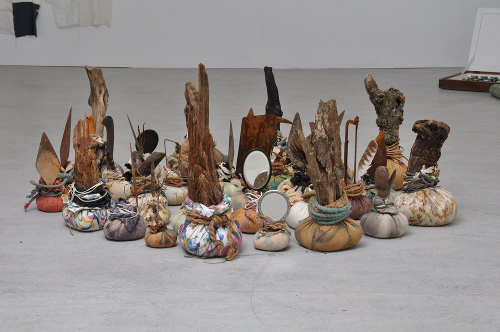 Offerings (earth),  2018 floor installation, dimensions variable