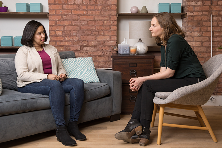 2. Connect with a therapist. - Therapy, when provided by the right mental health specialist, can be as effective as medication. Ask your doctor for a referral. Your employer might offer an assistance program that includes therapy.
