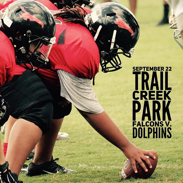 Football games are this Saturday and two of our teams are undefeated this season- way to go Midgets and Pee Wees! 🏈  Saturday, September 22 Trail Creek Park v. EAYA Dolphins  Seniors 10:00 Juniors 11:30 Pee Wees 1:00  Midgets 2:30 #downtownfalcons #athensfootball #athensga #downtownfalconsfamily