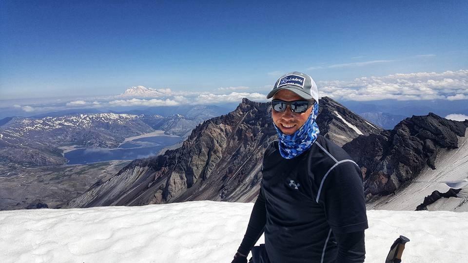 Rob Sweet Stage 4 Melanoma. Climbing to Camp Muir on Mt Rainier