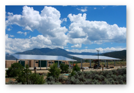 98 kW array, Taos Charter School, NM