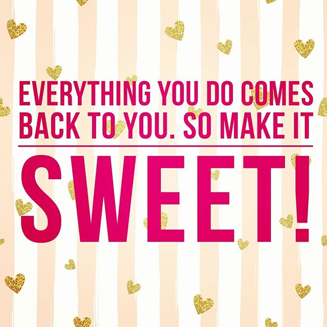 "Went into work way earlier than normal this morning and was a little bummed about it distrubing my morning routine. . . But then.. in a beautiful conversation about something totally unrelated to my woahs, my co worker reminded me of this. . . ""Everything you do comes back to you, so make it SWEET!"" . . This was such an important reminder that I think we forget all too often. . . The work, kindness, effort, and care that we put into things, is what comes back to us. . . So if your huffing and puffing, your going to get more of that and life will be bitter. . . If your going the extra mile, putting in the work with your whole heart. It will come back to you 10x. . . So when you don't want to wake up early, when you want to sneak out of work 5 mins earlier just because, when your complaining of the tedious things that don't seem to make the difference immediately.  Practice patience and do it anyway because it comes back to you. . . Make it sweet, Brittany 🍰"
