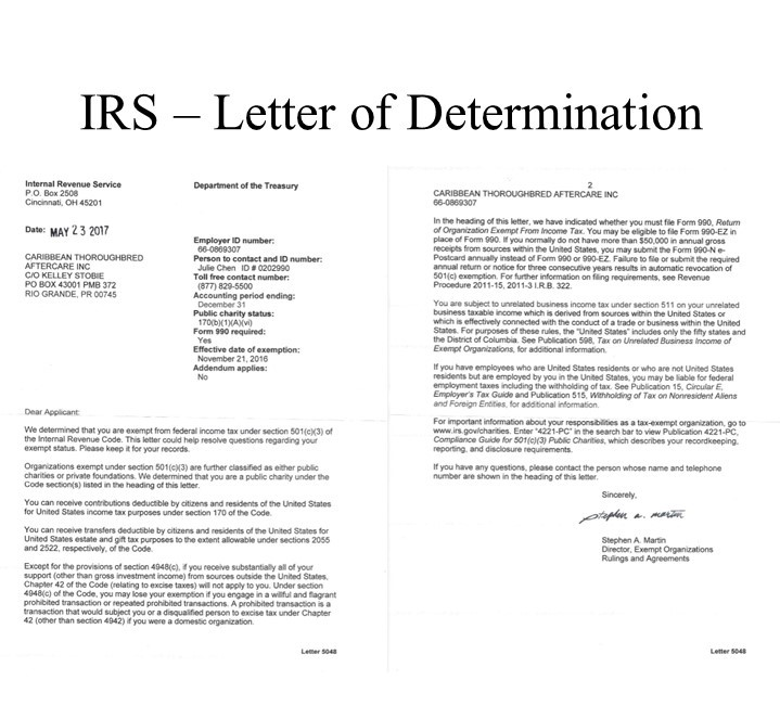 IRS - Ltr of Determination.jpg