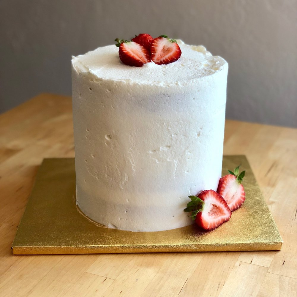 "Gluten-Free Berries and Cream Cake - 6"" - $125 each"