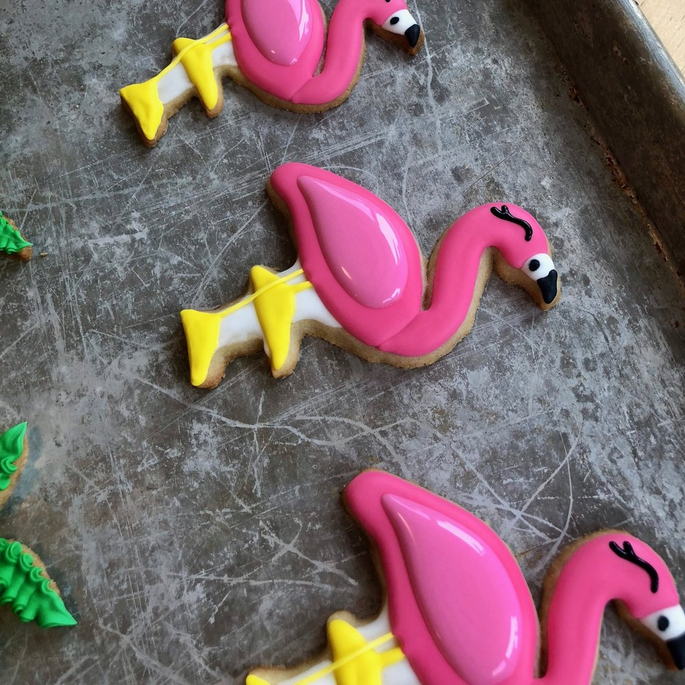 "Detailed Cookies - 3"" - (pencil, flamingo, teacup)$10 each24 minimum"