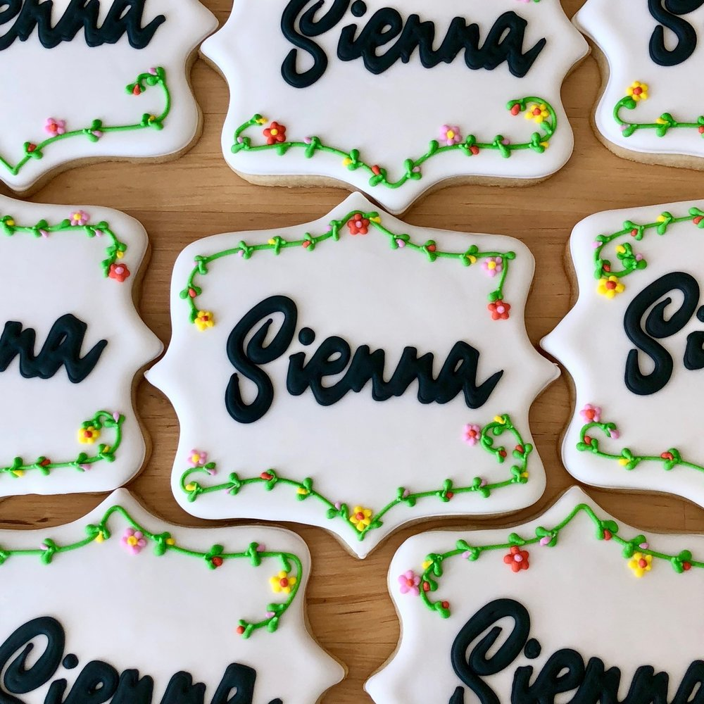 "Detailed Cookies - 4"" - (Seahorses, Plaques, Animals)$12 each24 minimum"