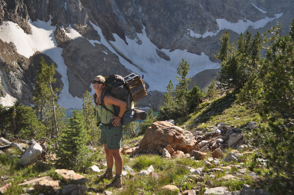 Collecting alpine plants in the Sawtooth Mts., Idaho