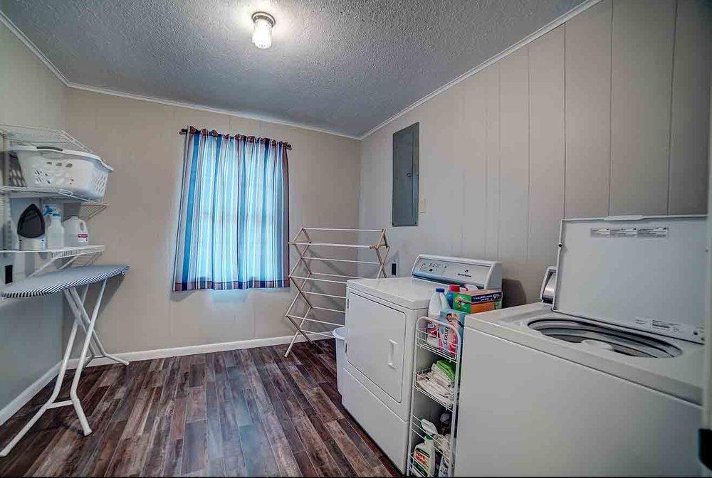 Fully-stocked laundry room