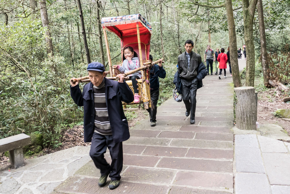 The easy way to travel by sedan chair