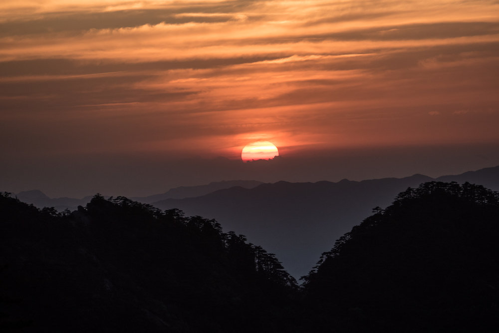 Sunset over Huangshan