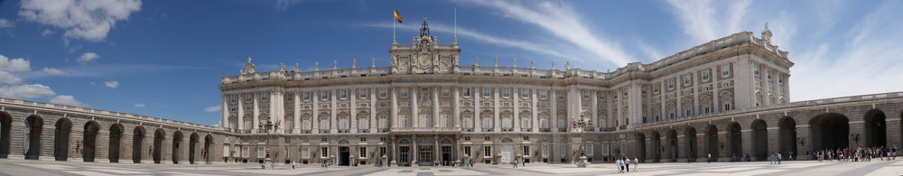 Panorama of the Palacio Real of Madrid