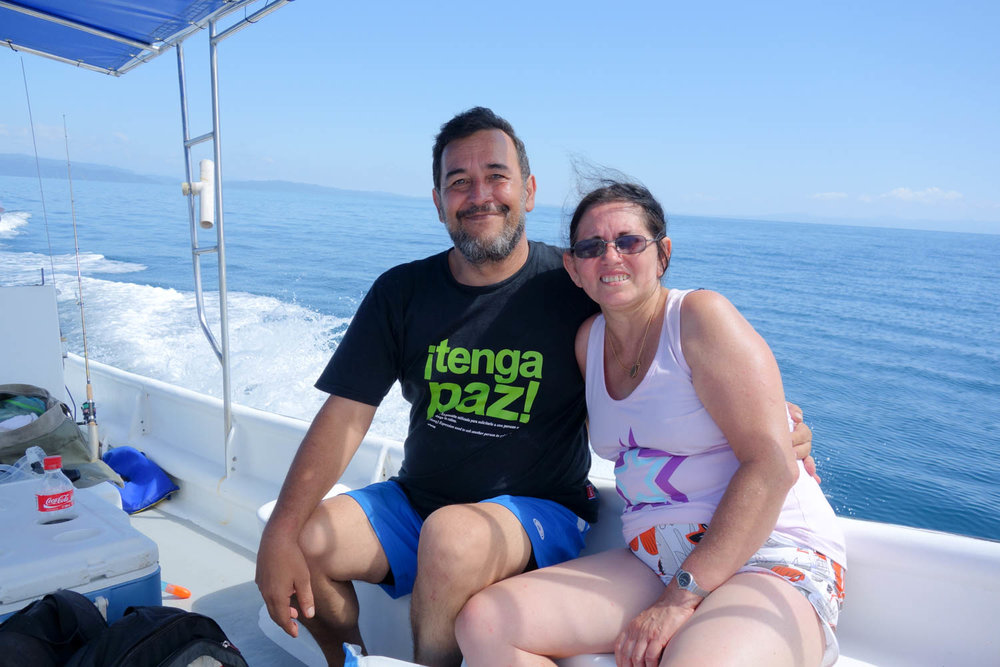 The other couple on the boat