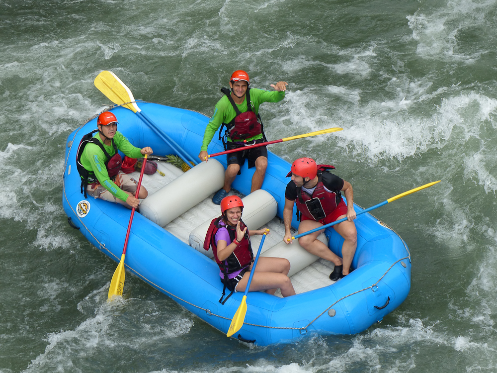 Rafters on the Sarapiqui River
