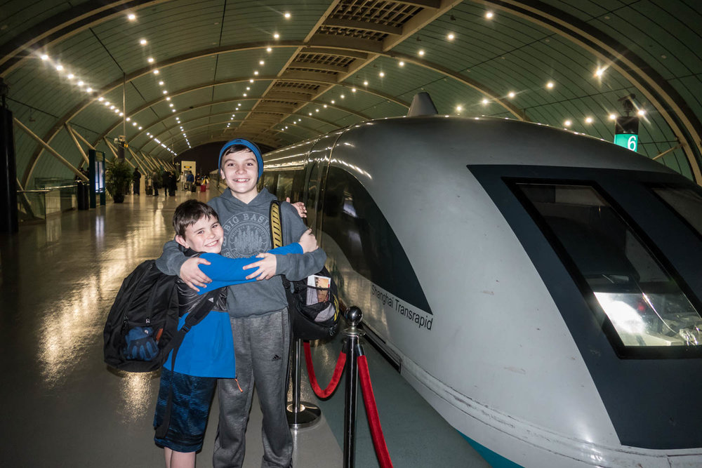 The Maglev train from the airport